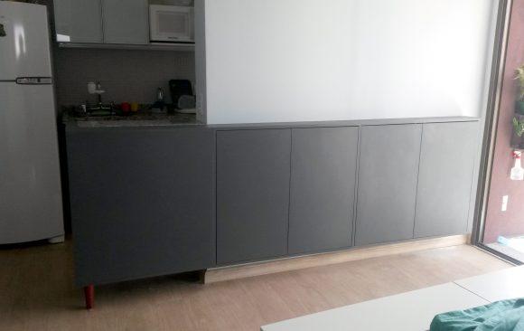 Bancada integra Cozinha e Sala