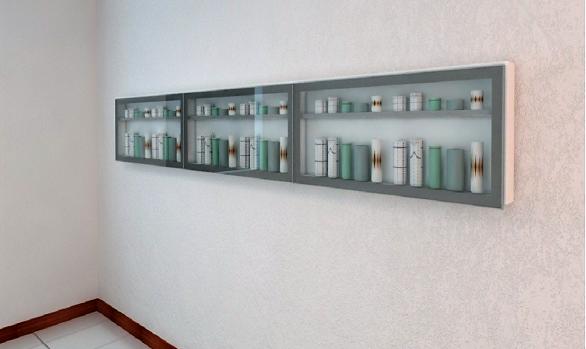 Armário Coleção com Portas de Vidro