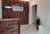 Entrada da sede da Marcena Moveis sob Medida