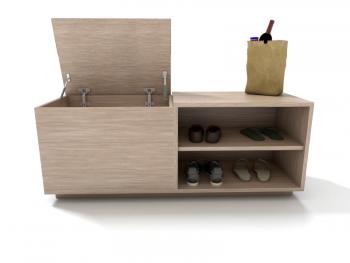 Sapateira de madeira feita sob medida em marcenaria online