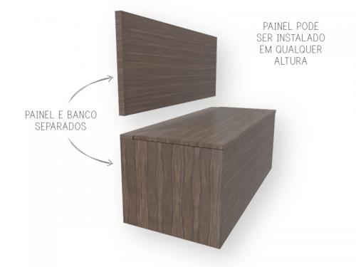 Banco Baú de madeira feito sob medida em marcenaria online