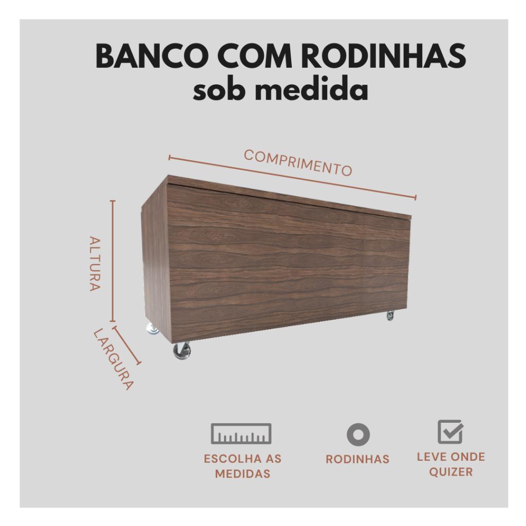 Banco Com Rodizio Sob Medida Marcena