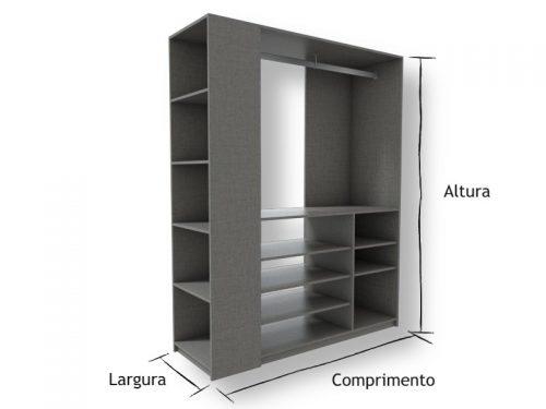 Guarda Roupa Aberto Arara Lino Piombo - Marcena