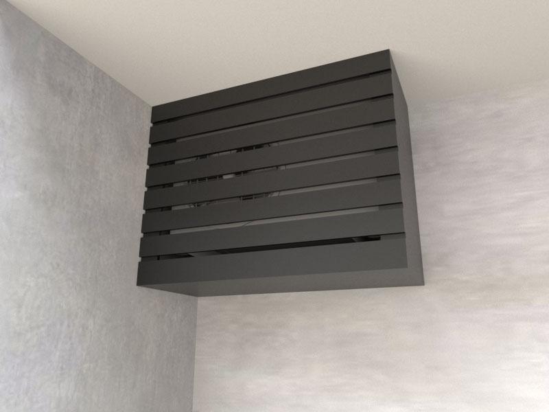 Caixa Ar Condicionado Suspensa - Preto