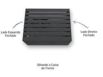 Caixa de Ar Condicionado Suspensa Preta - Marcena