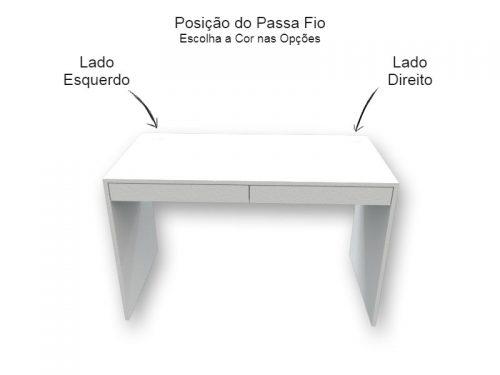 Mesa Escrivaninha Branca com Gavetas - Marcena