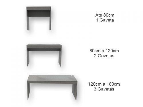 Mesa Escrivaninha com Gavetas Lino Piombo - Marcena