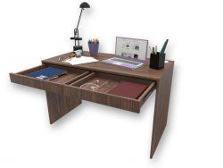 Mesa Escrivaninha com Gavetas Pau Ferro - Marcena