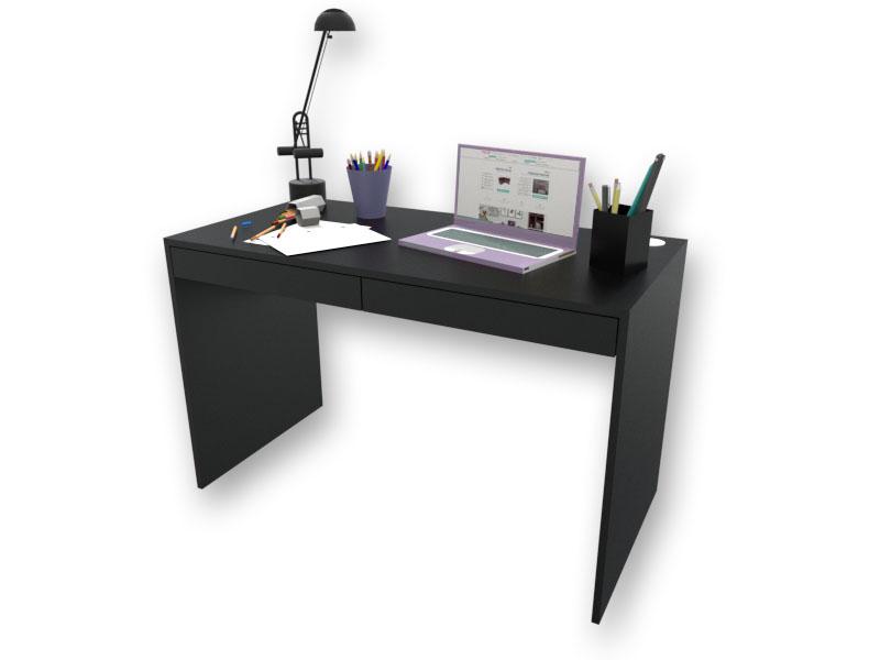 Escrivaninha com Gavetas - Preta