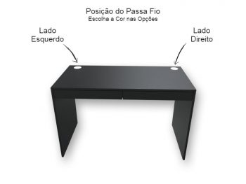 Mesa Escrivaninha com Gavetas Preta - Marcena
