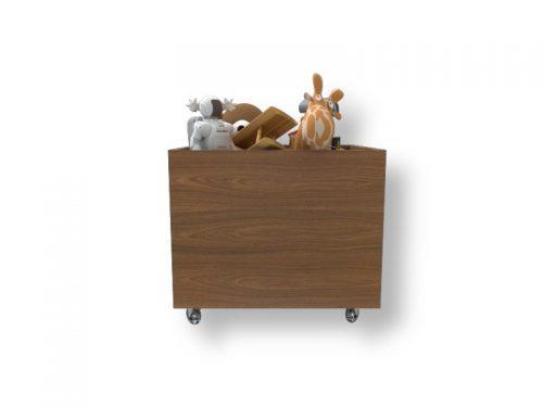 Caixa com Rodinhas e Brinquedos