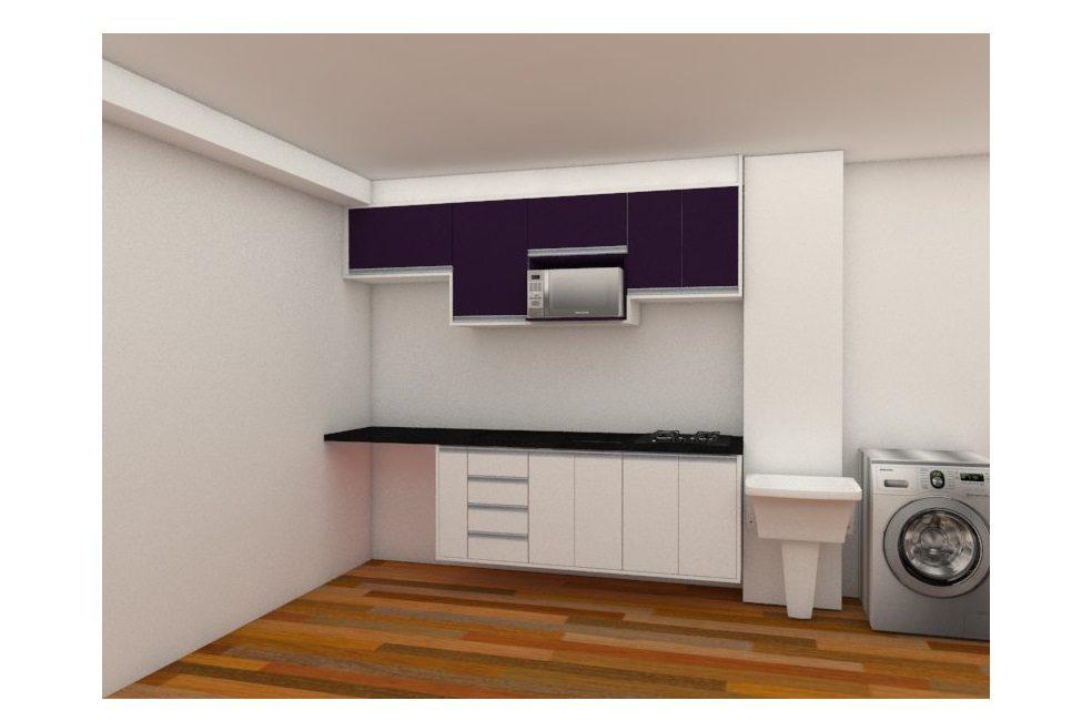 cozinha azul branco 01